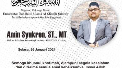 Amin Syukron Wafat, UNUGHA Cilacap Berduka