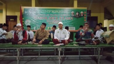 Sambut Konferensi MWCNU, Kader NU Bantarsari Bershalawat