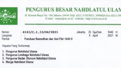 7 Panduan Ramadhan dan Idul Fitri 1442 H Dari PBNU