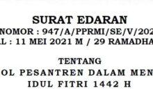 RMI PBNU Terbitkan Protokol Pesantren Di Idul Fitri 1442 H