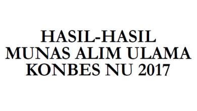Musyawarah Nasional (Munas) Alim Ulama Nahdlatul Ulama (NU)