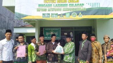 UPZIS MWCNU Kedungreja Bagikan Paket Sembako Ramadhan